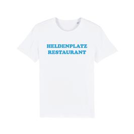 "WHITE ""HELDENPLATZ RESTAURANT"" T-SHIRT BLAU"