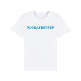 """WHITE """"FLORATREPPEN"""" T-SHIRT BLAU"""