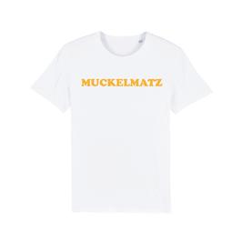 """WHITE """"MUCKELMATZ"""" T-SHIRT GELB"""