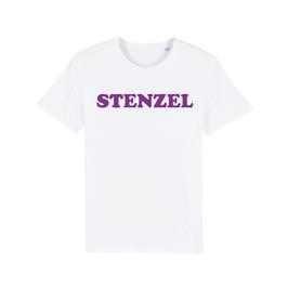 """WHITE """"STENZEL"""" T-SHIRT LILA"""