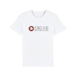 "WHITE ""SINGLIEBE"" LOGO T-SHIRT"