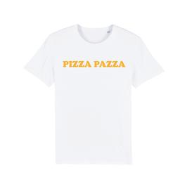 "WHITE ""PIZZA PAZZA"" T-SHIRT GELB"