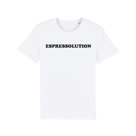 "WHITE ""ESPRESSOLUTION"" T-SHIRT SCHWARZ"