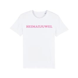 """WHITE """"HEIMATJUWEL"""" T-SHIRT BABY PINK"""