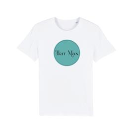 "WHITE ""HERR MAX"" LOGO T-SHIRT"