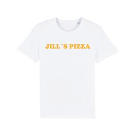 "WHITE ""JILL'S PIZZA"" T-SHIRT GELB"