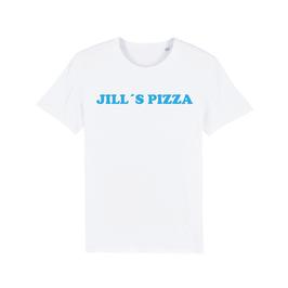"""WHITE """"JILL'S PIZZA"""" T-SHIRT BLAU"""