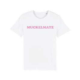 """WHITE """"MUCKELMATZ"""" T-SHIRT BABY PINK"""
