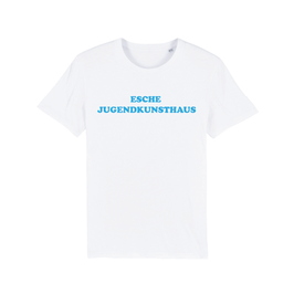 "WHITE ""ESCHE JUGENDKUNSTHAUS"" T-SHIRT BLAU"
