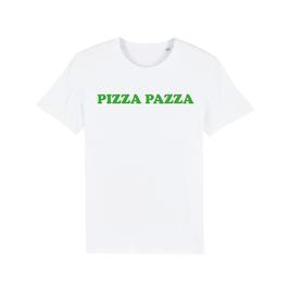 "WHITE ""PIZZA PAZZA"" T-SHIRT GRÜN"