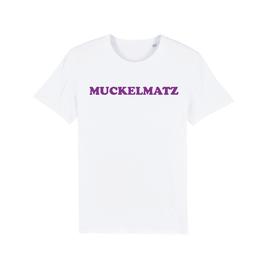 """WHITE """"MUCKELMATZ"""" T-SHIRT LILA"""
