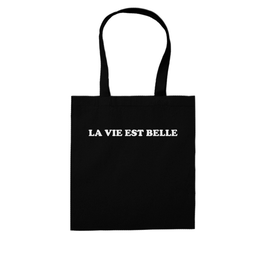 """LA VIE EST BELLE"" SHOPPING BAG"