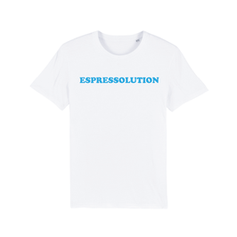 "WHITE ""ESPRESSOLUTION"" T-SHIRT BLAU"