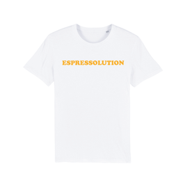 "WHITE ""ESPRESSOLUTION"" T-SHIRT GELB"