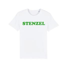 """WHITE """"STENZEL"""" T-SHIRT GRÜN"""