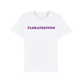 "WHITE ""FLORATREPPEN"" T-SHIRT LILA"