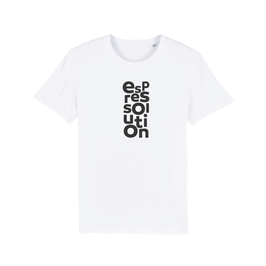 "WHITE ""ESPRESSOLUTION"" LOGO T-SHIRT"