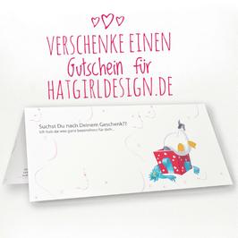 Gutschein für Einkauf bei Hatgirldesign.de