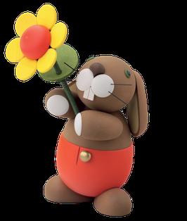 "Hase ""Hugo"" mit Sonnenblume"