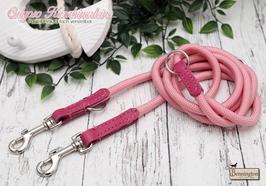 "Calypso Karabinerleine ""Pastell Pink"" 10mm"