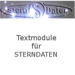 Sterndaten Textmodule