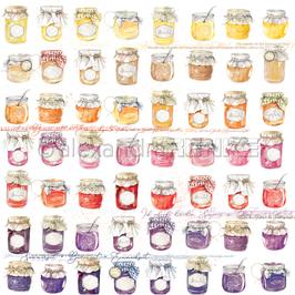 Marmeladen-gläser