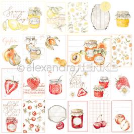 Kärtchenbogen Marmeladen-gläser rot orange