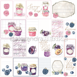 Kärtchenbogen Marmeladen-gläser rosa violett