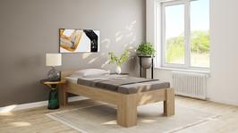 Echtholzbett Buche  Einzelbett  mit Fuss I