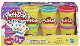 Play-Doh Glitzerknete 6er Set