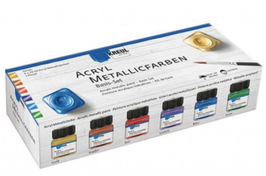 KREUL Acryl MEtallicfarben Basis-Set