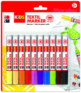 MARABU Kids Textil Marker 10 Stk. sort.