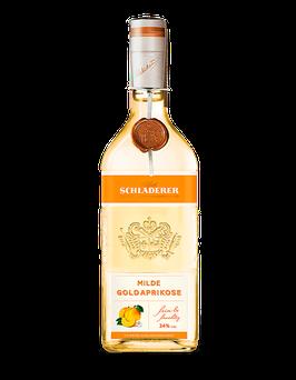 Schladerer - Milde Goldaprikose - Ausgewählte, süsssaftige Goldaprikosen, vom Sommer verwöhnt - 34 % vol. - 0,7 L.