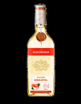 Schladerer - Milder Bergapfel - Fruchtig frische Bergäpfel von  Streubobstwiesen - 34 % vol. - 0,7 L.
