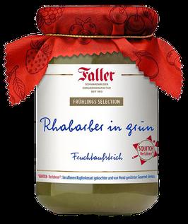 Faller - Rharbarber in grün - Fruchtaufstrich aus dem Schwarzwald - 320g. Glas