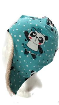 Fliegermütze tanzender Panda (F83)