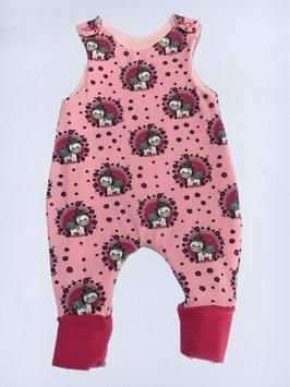 Strampelanzug  Einhorn pink mit Blumen  (S67/7)