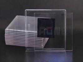 44. Заготовка акрилового магнита прямоугольная 100х100мм прозрачная.