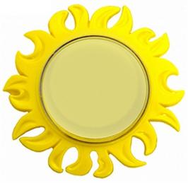 Акриловый магнит-солнце под наполнитель.