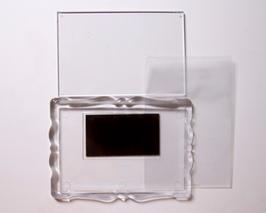 3. Заготовка акрилового магнита фигурная рамка  78х52мм
