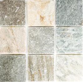 Quarz Mosaik mix beige mit grau h10408
