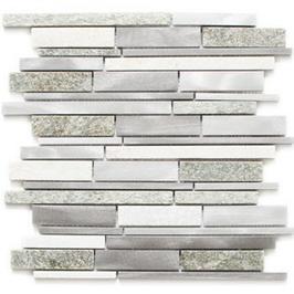 Urban-Mix Mosaik mix silber grau hellbeige h10388
