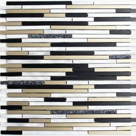 Modern Mosaik mix schwarz bronze gold h10348