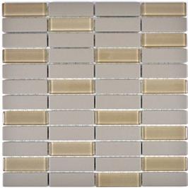 Architecture Mosaik hellgrau h10303 mit Keramik Glas