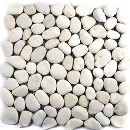 Pebble Mosaik weiss h10398 Natursteinmosaik