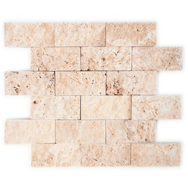 Travertin Face Mosaik beige h10609