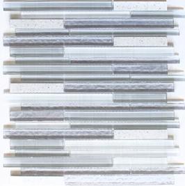Artificial Mosaik mix weiß h10891