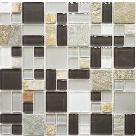 Avantgarde Mosaik mix grau mit braun h11016