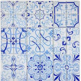 Qin Shi Mosaik Retro blau h10786