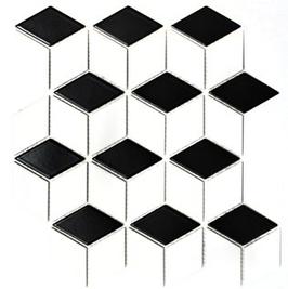 Diamond Mosaik mix weiß mit schwarz POV 01